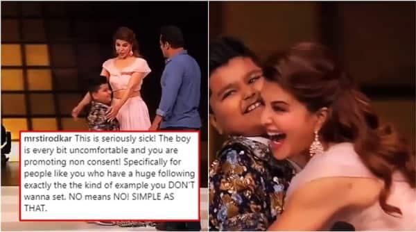 salman khan, salman khan videos, race 3, salman khan jacqueline fernandes, Jacqueline fernandes hugs boy, jacqueline fernandes hug video viral, jacqueline fernandes hug video gets slammed, Indian express, Indian express News