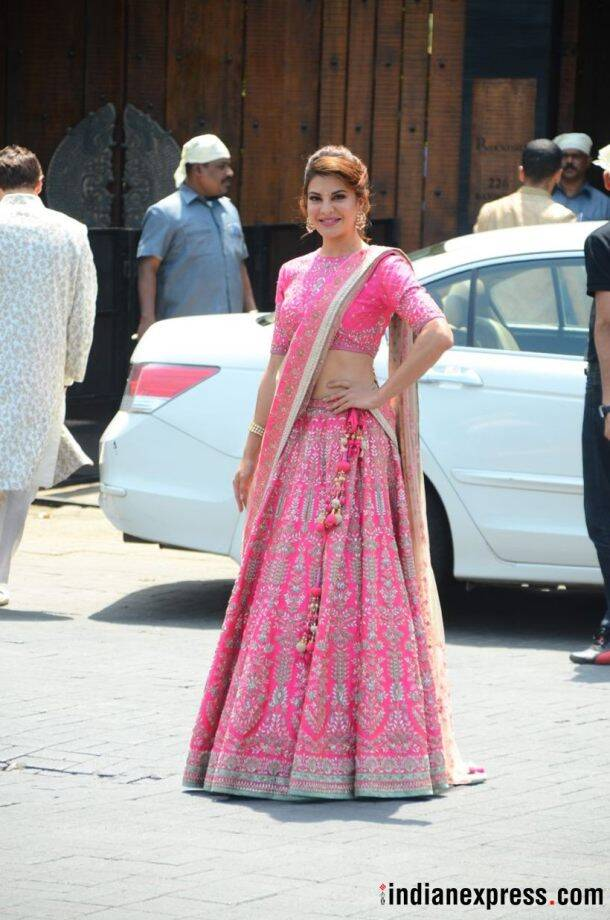jacqueline fernandes at sonam kapoor and anand ahuja's wedding