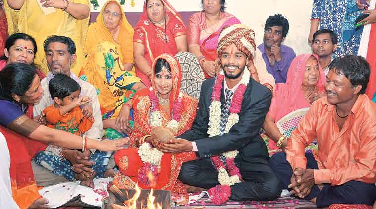 Forced by kin to snap ties, a happy ending: with wedding