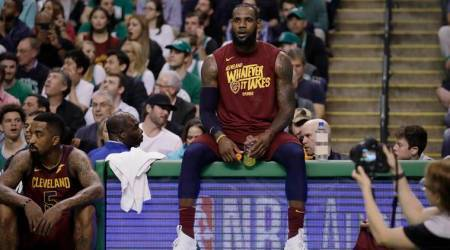 LeBron James hits game-high 42 points but Cleveland Cavaliers go down to Boston Celtics in Game 2