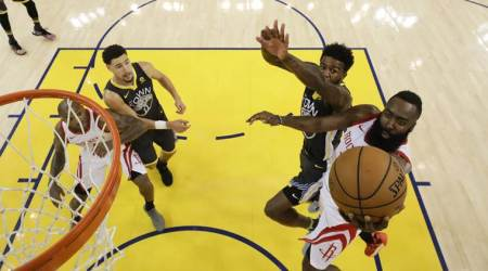 NBA Playoffs: Houston Rockets rally past Golden State Warriors in 4th to even series