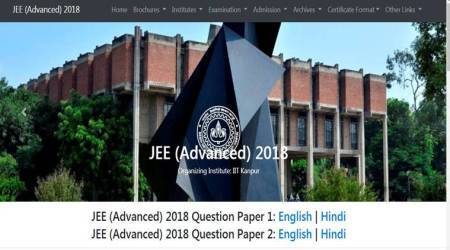 JEE Advanced 2018: Question Papers 1, 2 released at jeeadv.ac.in