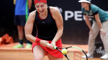 Jelena Ostapenko ousts Johanna Konta in Rome to set up Maria Sharapova clash