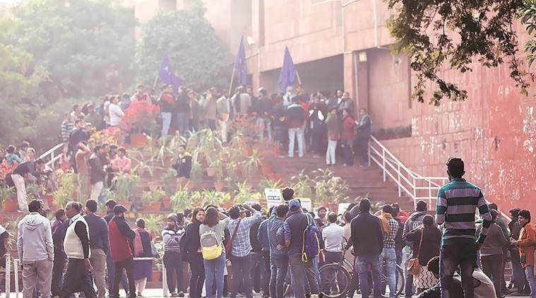 JNU had seen protests over the UGC notification which was implemented in the 2017 admission cycle.