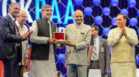 Broke protocols to come down to Surat to award ex-ISRO chief A S Kiran Kumar and Kailash Satyarthi: Kovind