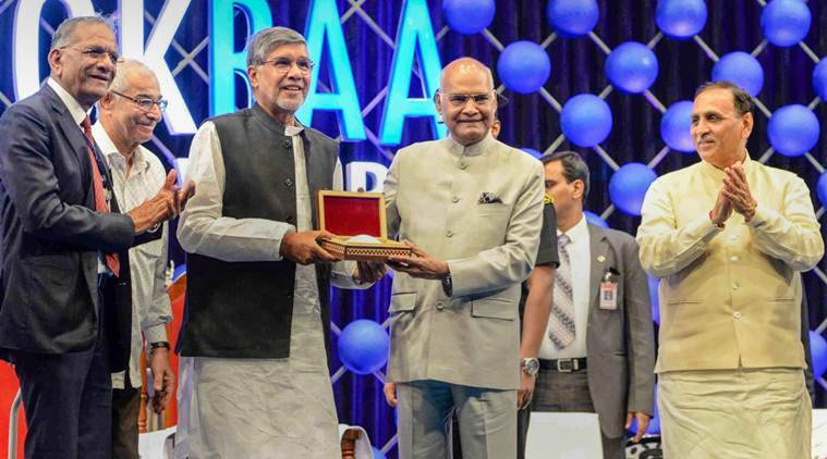 I broke protocols to come down to Surat to award ex-ISRO chief, Kailash Satyarthi: Ram Nath Kovind