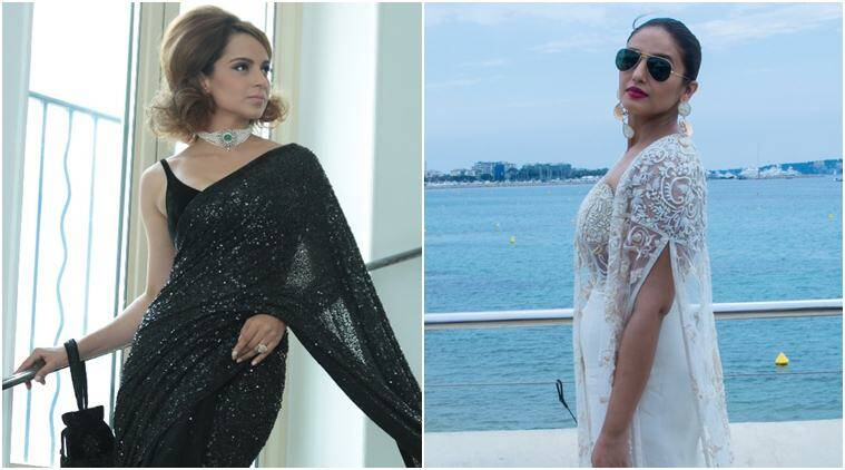 Kangana Ranaut and huma qureshi at Cannes Film Festival