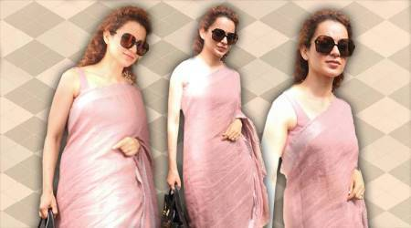 Kangana Ranaut's pretty lilac sari is what you need to beat the sweltering heat