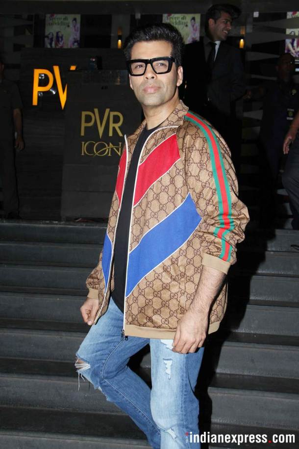 karan johar at veere di wedding screening