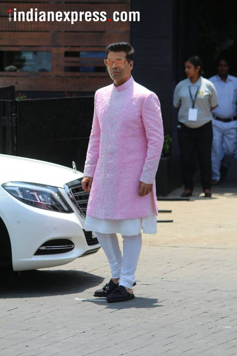karan johar at sonam and anand's wedding