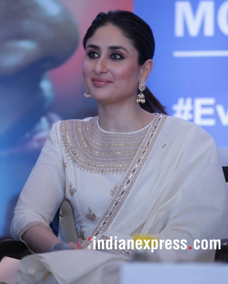 Kareena Kapoor Khan, Kareena Kapoor Khan latest photos, Kareena Kapoor Khan fashion, Kareena Kapoor Khan Punit Balana, Kareena Kapoor Khan UNICEF event, Kareena Kapoor Khan cream sharara, indian express, indian express news