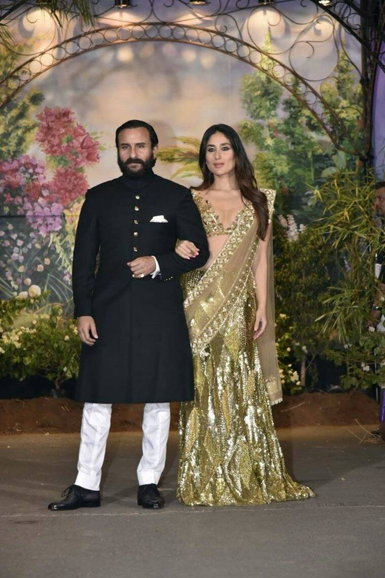 Kareena Kapoor Khan, Kareena Kapoor, Sonam Kapoor reception, Kareena Kapoor at Sonam Kapoor reception, Kareena Kapoor fashion, Kareena Kapoor latest updates, Kareena Kapoor latest photos, Kareena Kapoor latest news, Kareena Kapoor images, celeb fashion, bollywood fashion, indian express, indian express news