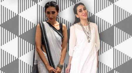 From a handloom sari to a sheer kurta, Karisma Kapoor shows us how to keep it gracefully ethnic this summer