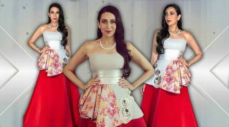 Karisma Kapoor's Amit Aggarwal goldfish-inspired gown is an eyesore