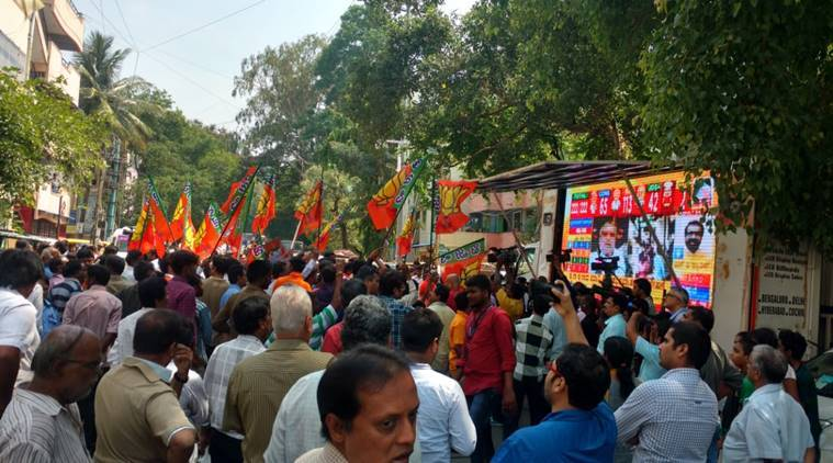 Exit polls predict hung assembly in Karnataka, most show BJP in lead
