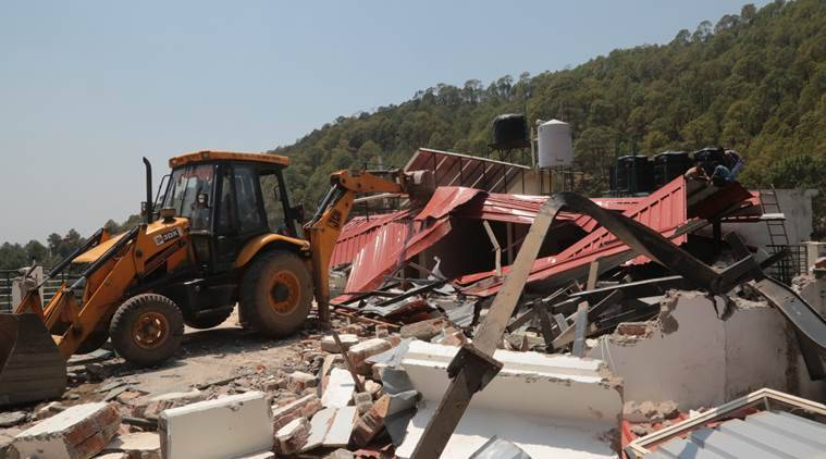 Kasauli illegal demolition drive