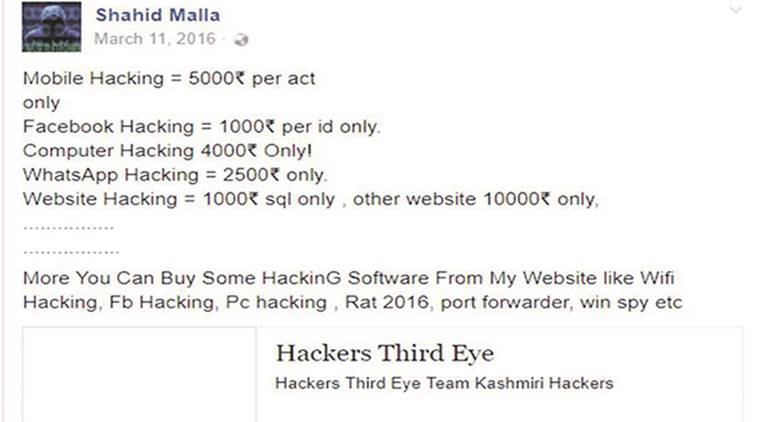 Kashmiri youths took money to hack sites, WhatsApp: Police