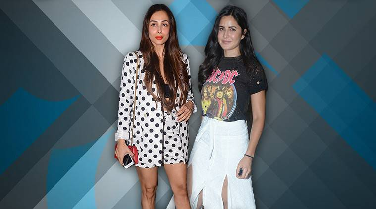 Katrina Kaif, Katrina Kaif latest photos, Katrina Kaif fashion, Katrina Kaif Misguided top, Katrina Kaif skirt, Malaika Arora fashion, Malaika Arora skirt, indian express, indian express news