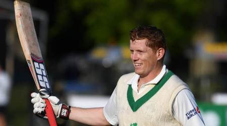 Kevin O'Brien becomes Ireland's first batsman to score Test century