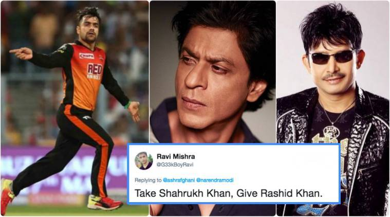 ipl 2018, rashid khan, rashid khan wickets, rashid khan citizenship, rashid khan afghanistan, rashid khan india, rashid khan sushma swaraj, sushma swaraj, ipl news, cricket news, indian express
