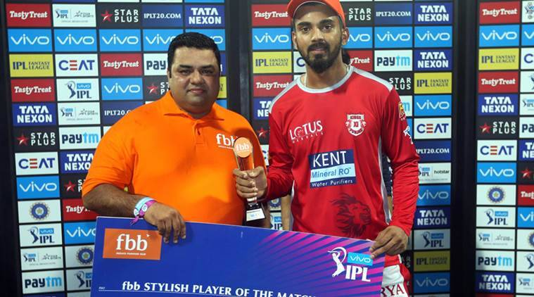 KL Rahul was awarded the Stylish Player of the Match