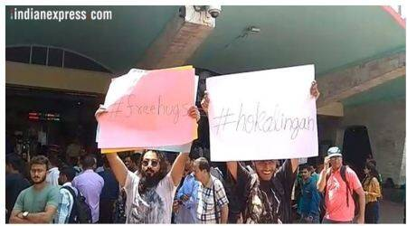 Kolkata moral policing: Protesters offer 'free hug' to metro commuters