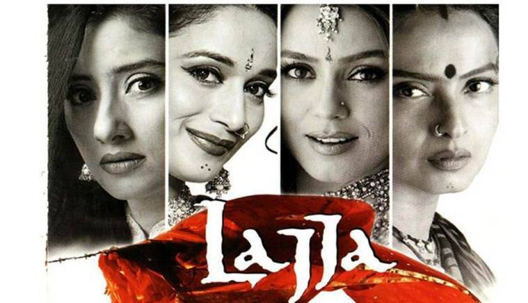 a poster of madhuri dixit's lajja