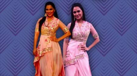 Lara Dutta's attempt at fusion is full of confusion; the make-up is a let down too