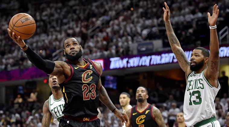 5714c9fb56eb NBA Playoffs  LeBron James scores 46 as Cavaliers force Game 7 in ...