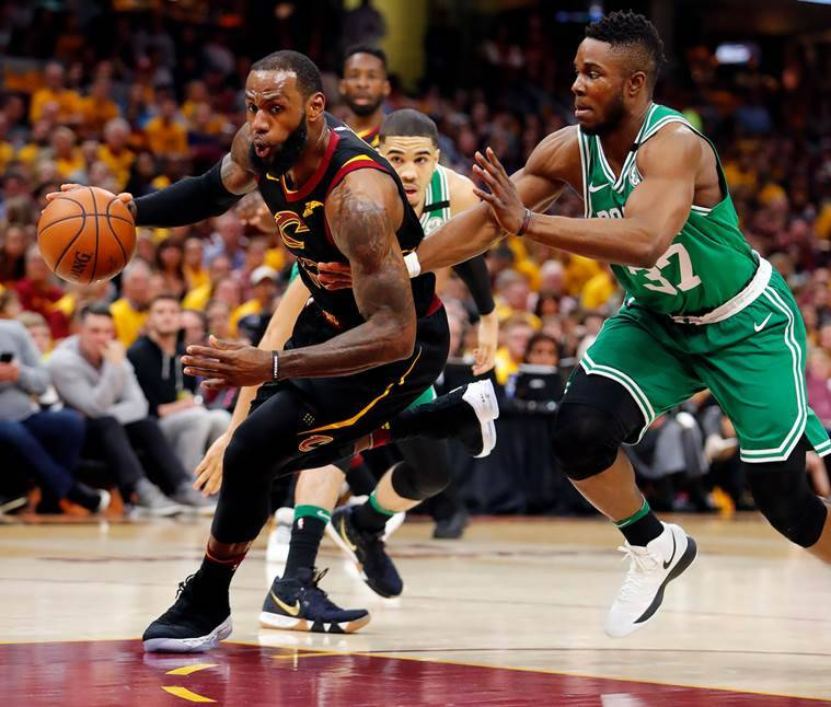 c6056cf9af3c NBA Playoffs  LeBron James  44 helps Cleveland Cavaliers even series with Boston  Celtics