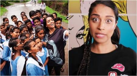 VIDEO: Superwoman Lilly Singh educates Indian kids about a 24×7 helpline to endviolence