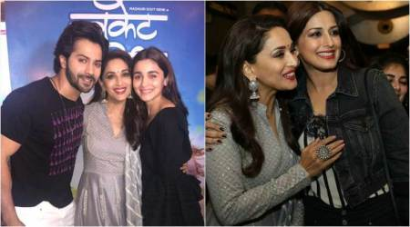 Bucket List screening: Alia Bhatt, Varun Dhawan, Janhvi Kapoor and others watch Madhuri Dixit's Marathi debut