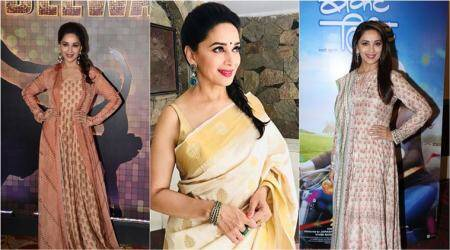 'Bucket List' promotions: Madhuri Dixit casts a summery spell in pastels and florals