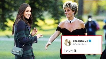 Shobhaa De 'reveals' a quirky connection between Meghan Markle and Princess Diana on Twitter
