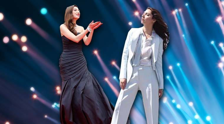Cannes 2018: After her glorious black fishtail gown, Mahira Khan keeps it classy in a cool blue pantsuit