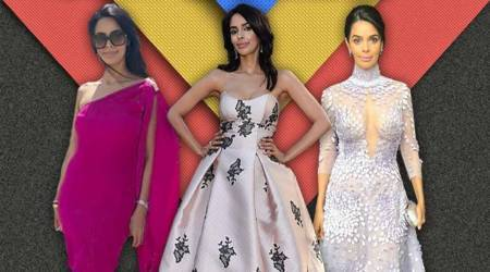 Mallika Sherawat Cannes, Mallika Sherawat latest photos, Mallika Sherawat fashion, Mallika Sherawat Cannes fashion, Mallika Sherawat gowns, Mallika Sherawat film festival, Mallika Sherawat Cannes 2018, indian express, indan express news