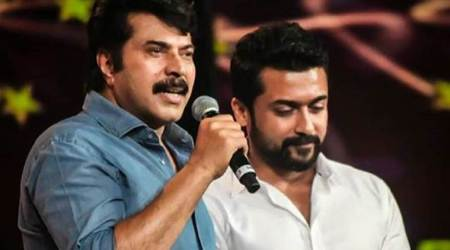 Suriya overwhelmed after attending AMMA event in Trivandrum