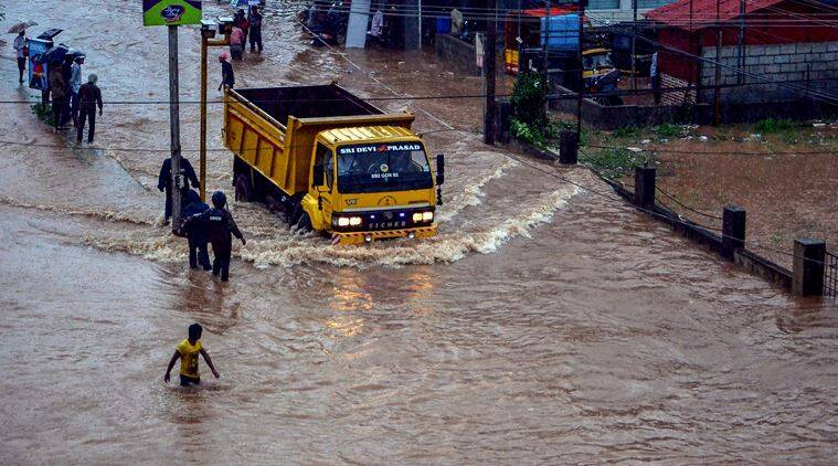 In Pics: Heavy rain inundates Mangaluru, schools remain closed today