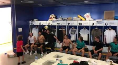 WATCH: Marcelo son's header challenge with Real Madrid players wins the internet over