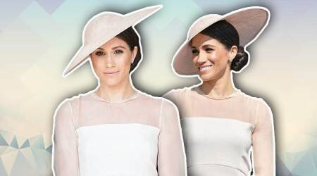Meghan Markle steals the spotlight in a rose pink dress for her first look after the Royal Wedding2018