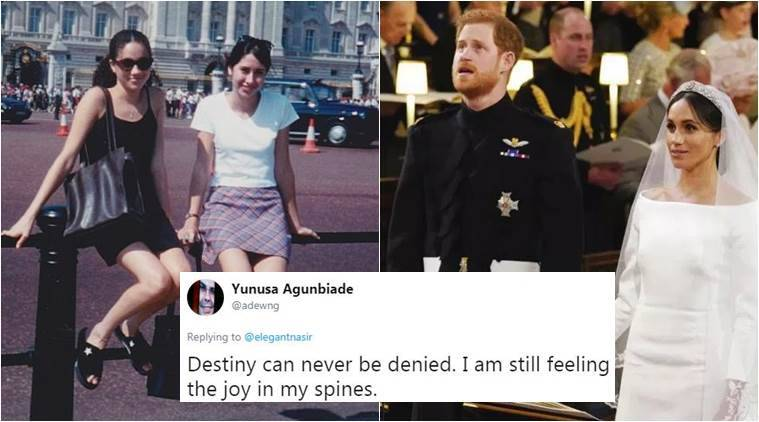 royal wedding 2018 meghan markle s throwback photo outside buckingham palace is proof fairytales still exist trending news the indian express royal wedding 2018 meghan markle s