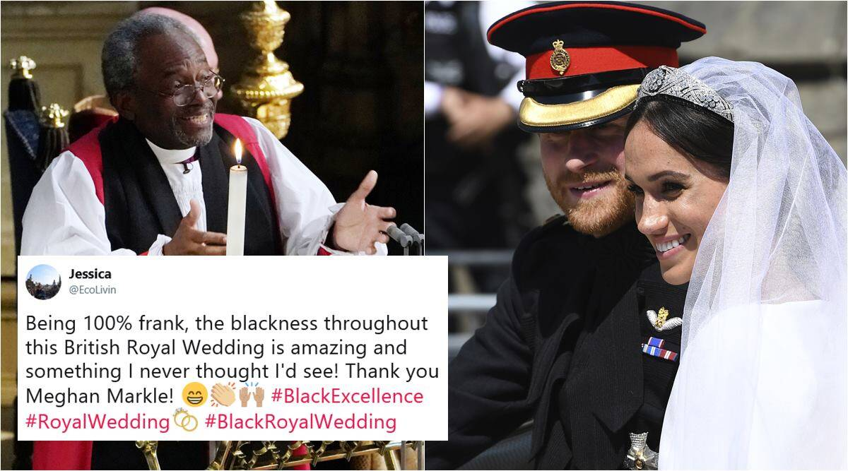 as meghan markle and prince harry tied knot here s why blackroyalwedding was trending trending news the indian express as meghan markle and prince harry tied