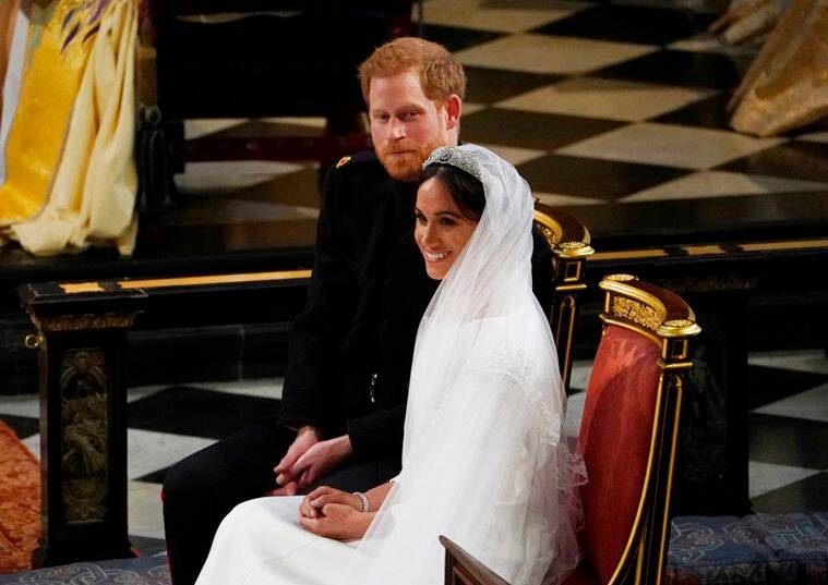 meghan markle and prince harry at their wedding