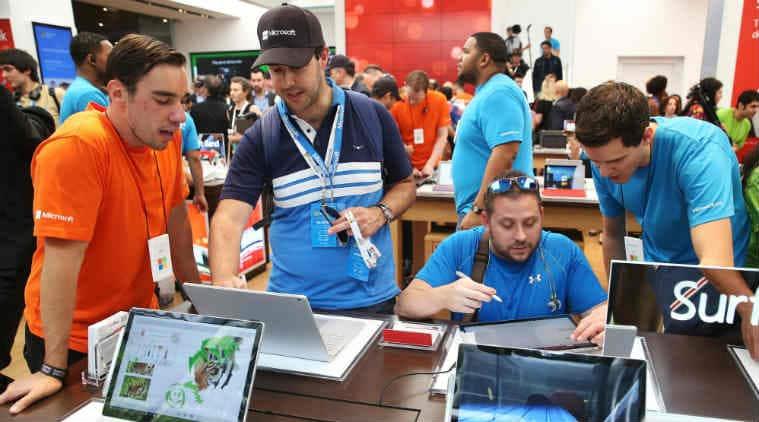 Microsoft Surface tablet series, Apple iPad, global tablet PC market, iPad models, Surface Pro, Microsoft tablet PCs, iPad Pro, Windows 10 Pro