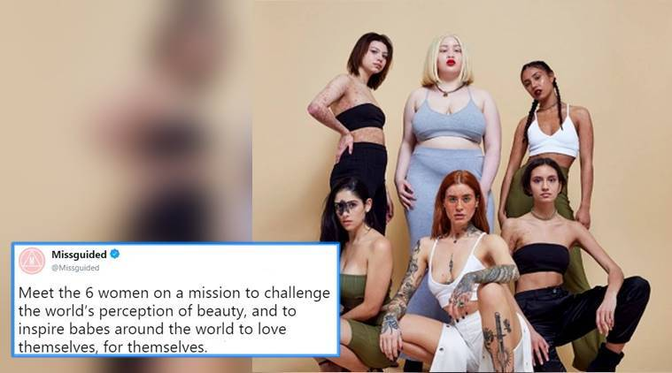 Missguided's latest campaign, Missguided women's skin campaign, skin imperfections campaign, skin imperfections campaign, missguided women's skin, inclusive campaign, indian express, indian express news