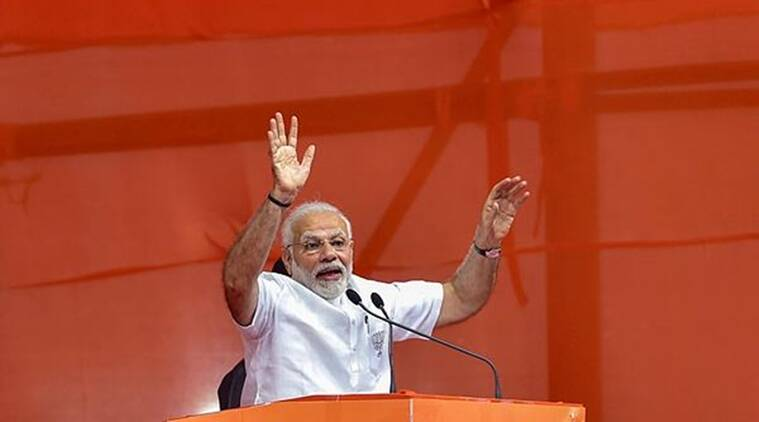 Prime Minister Narendra Modi at a rally in Karnataka. (PTI)