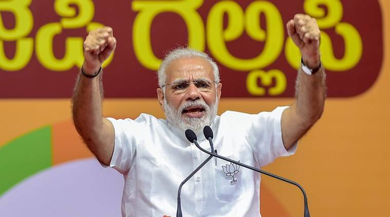 PM narendra modi campaigning in poll-bound Karnataka for the assembly elections 2018