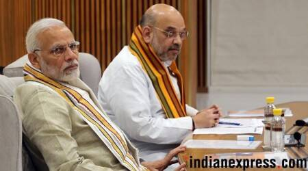 PM Modi, Amit Shah faces blackened in posters in Surat, 1 arrested