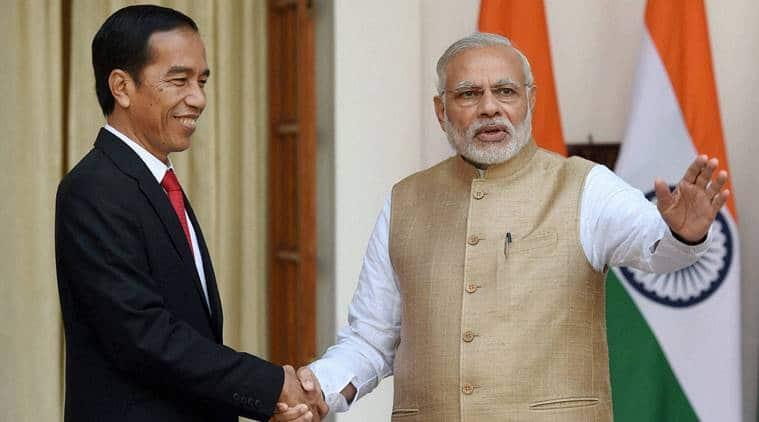 Prime Minister Narendra Modi with Indonesian President Joko Widodo. (File)