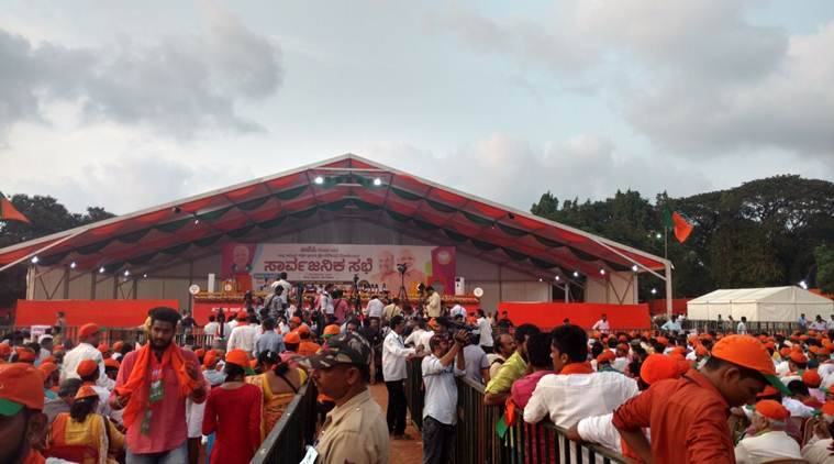Live in Karnataka: Stage set for PM Modi's rally in Mangalore